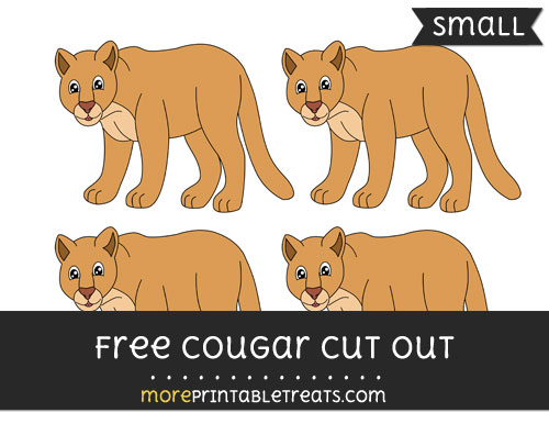 Free Cougar Cut Out - Small Size Printable