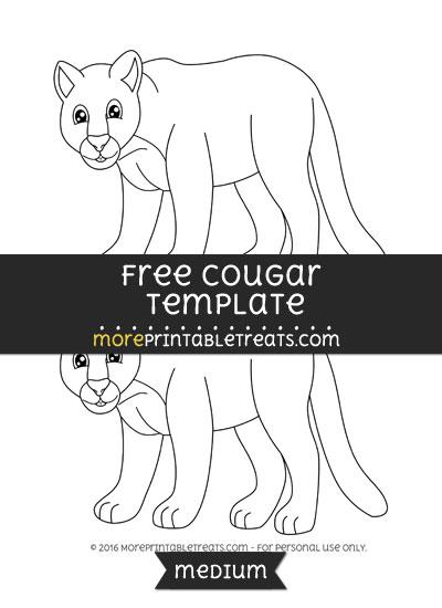 Free Cougar Template - Medium