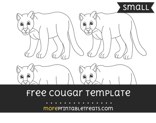 Free Cougar Template - Small