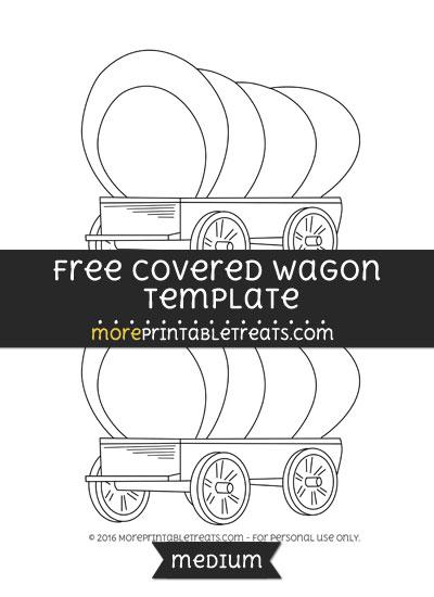 Free Covered Wagon Template - Medium