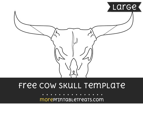 Free Cow Skull Template - Large