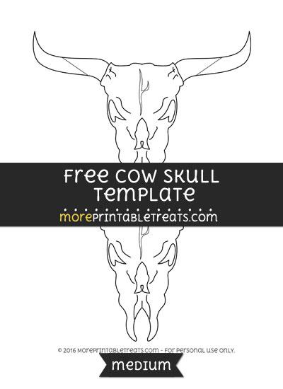 Free Cow Skull Template - Medium