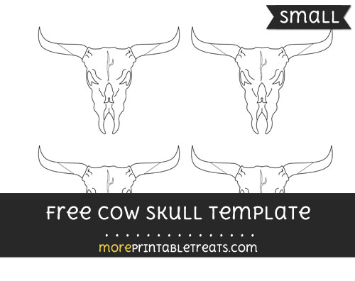 Free Cow Skull Template - Small