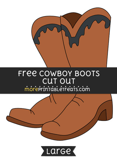 Free Cowboy Boots Cut Out - Large size printable