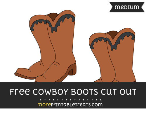 Free Cowboy Boots Cut Out - Medium Size Printable