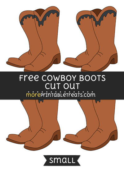 Free Cowboy Boots Cut Out - Small Size Printable