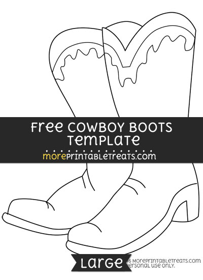 Free Cowboy Boots Template - Large