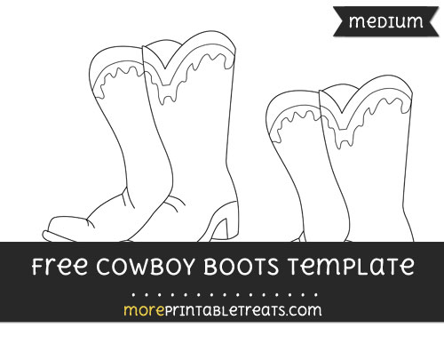 Free Cowboy Boots Template - Medium