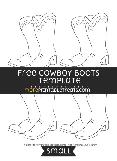 Free Cowboy Boots Template - Small