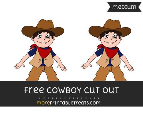 Free Cowboy Cut Out - Medium Size Printable