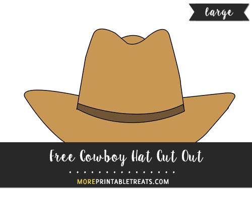 Free Cowboy Hat Cut Out - Large