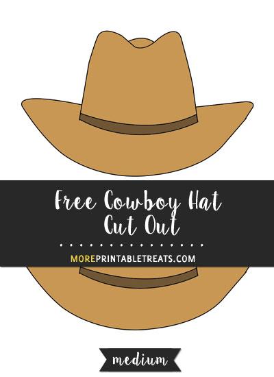 Free Cowboy Hat Cut Out - Medium