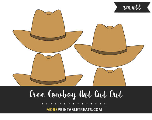Free Cowboy Hat Cut Out - Small