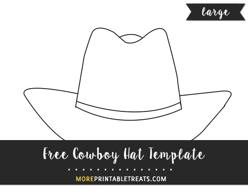 Free Cowboy Hat Template - Large