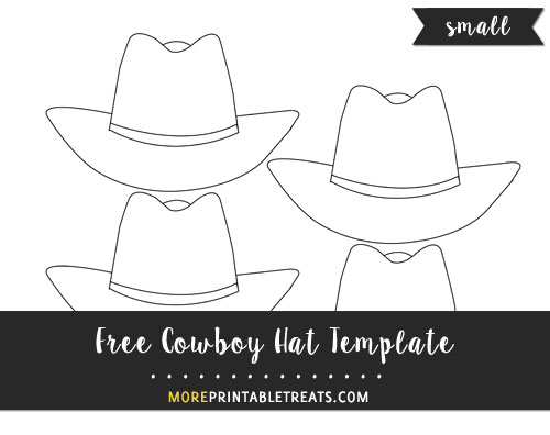 Free Cowboy Hat Template - Small