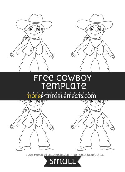 Free Cowboy Template - Small