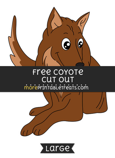 Free Coyote Cut Out - Large size printable