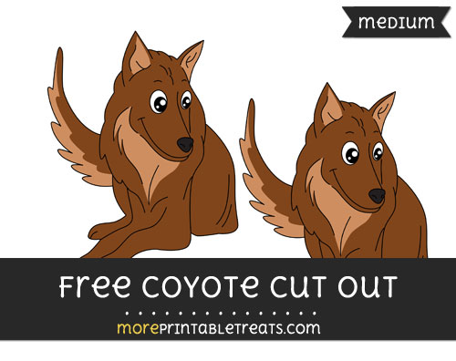 Free Coyote Cut Out - Medium Size Printable