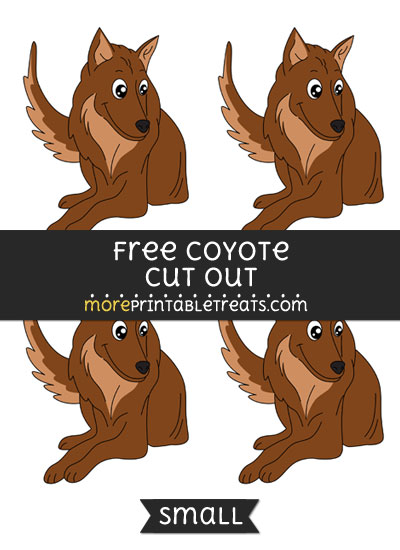 Free Coyote Cut Out - Small Size Printable