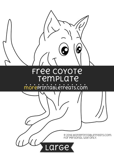 Free Coyote Template - Large