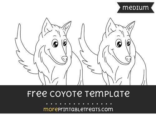 Free Coyote Template - Medium
