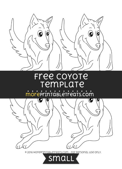 Free Coyote Template - Small
