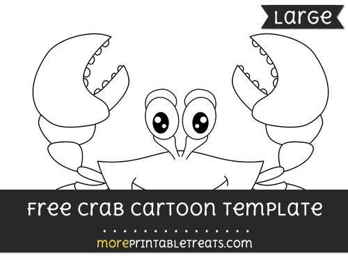 Free Crab Cartoon Template - Large