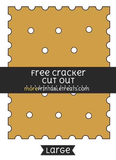 Free Cracker Cut Out - Large size printable