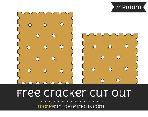 Free Cracker Cut Out - Medium Size Printable