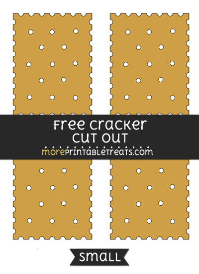 Free Cracker Cut Out - Small Size Printable