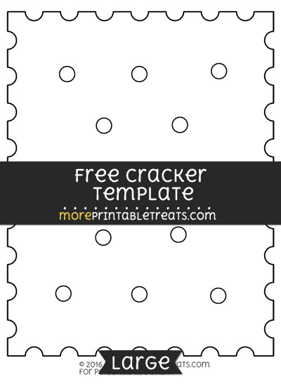 Free Cracker Template - Large