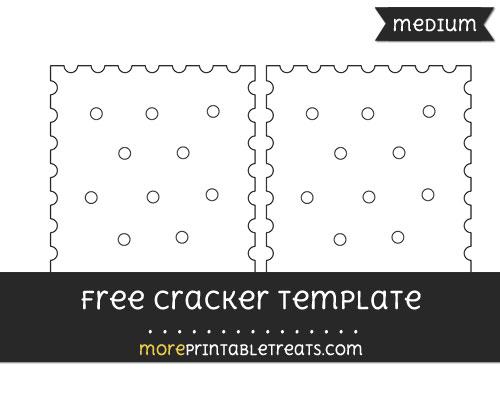 Free Cracker Template - Medium