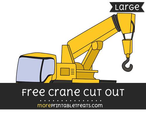 Free Crane Cut Out - Large size printable
