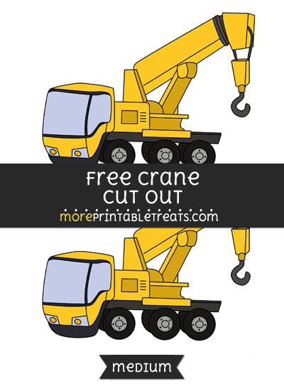 Free Crane Cut Out - Medium Size Printable