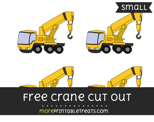 Free Crane Cut Out - Small Size Printable