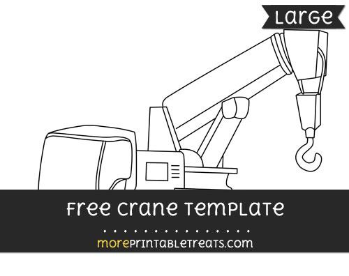 Free Crane Template - Large