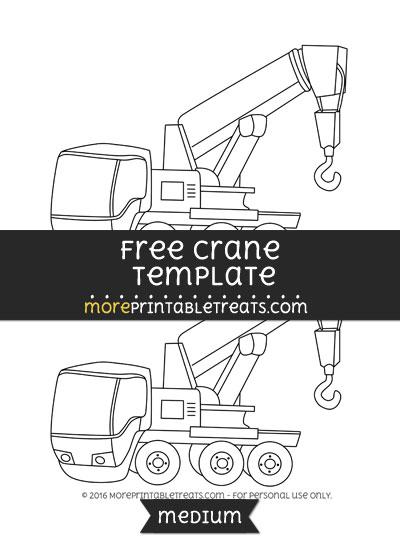 Free Crane Template - Medium
