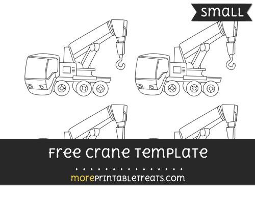 Free Crane Template - Small