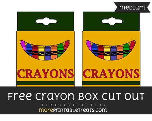 Free Crayon Box Cut Out - Medium Size Printable