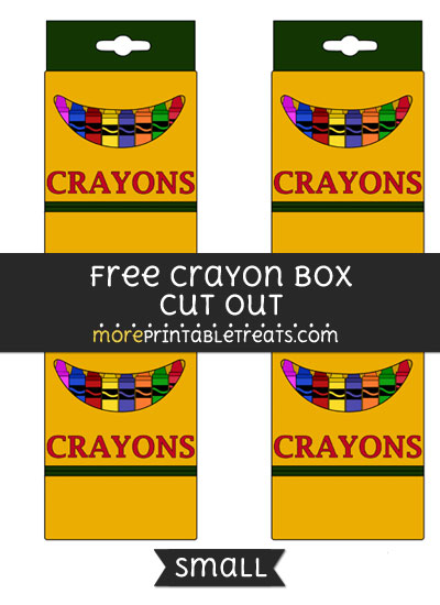 Free Crayon Box Cut Out - Small Size Printable