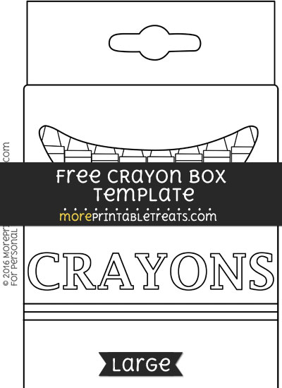 Free Crayon Box Template - Large