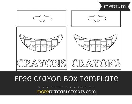 Free Crayon Box Template - Medium