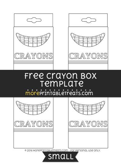 Free Crayon Box Template - Small
