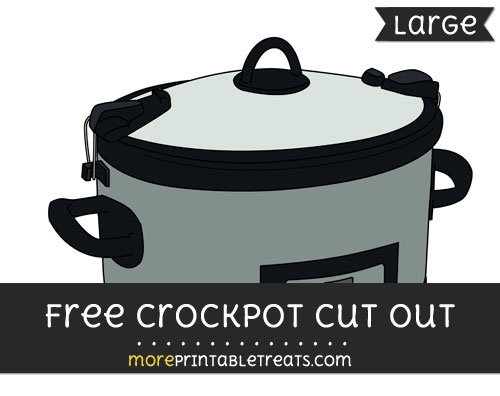 Free Crockpot Cut Out - Large size printable