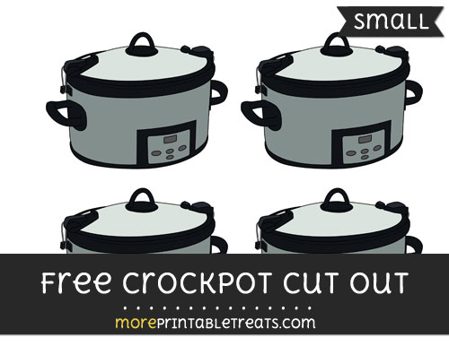 Free Crockpot Cut Out - Small Size Printable