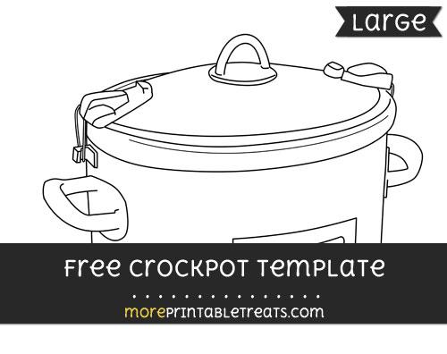 Free Crockpot Template - Large