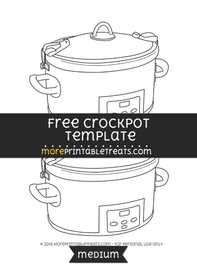 Free Crockpot Template - Medium