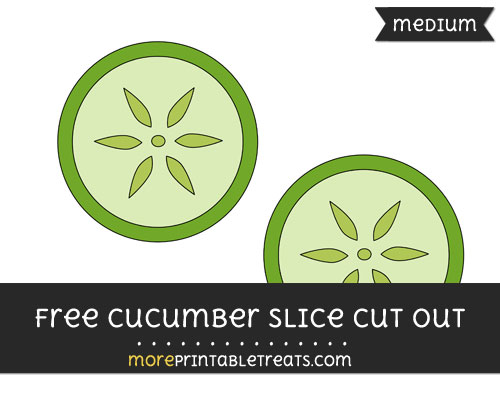 Free Cucumber Slice Cut Out - Medium Size Printable