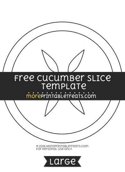 Free Cucumber Slice Template - Large