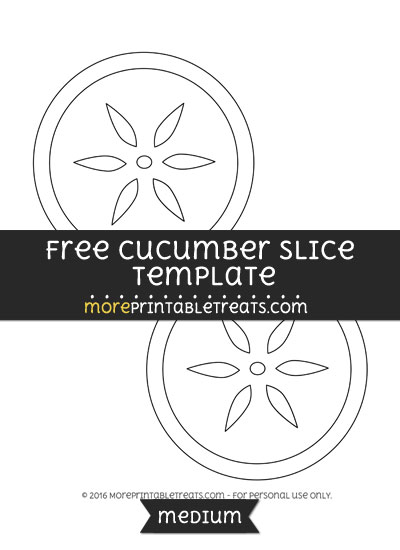 Free Cucumber Slice Template - Medium